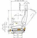 ISRI 6000/517 PVC Komfort - Bedienung links Spurmaß...