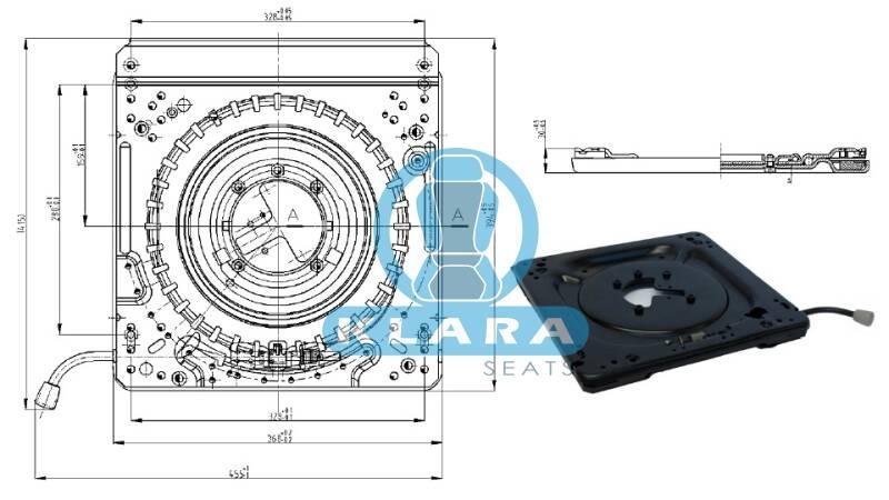 drehadapter universal 360 griff links passend grammer. Black Bedroom Furniture Sets. Home Design Ideas